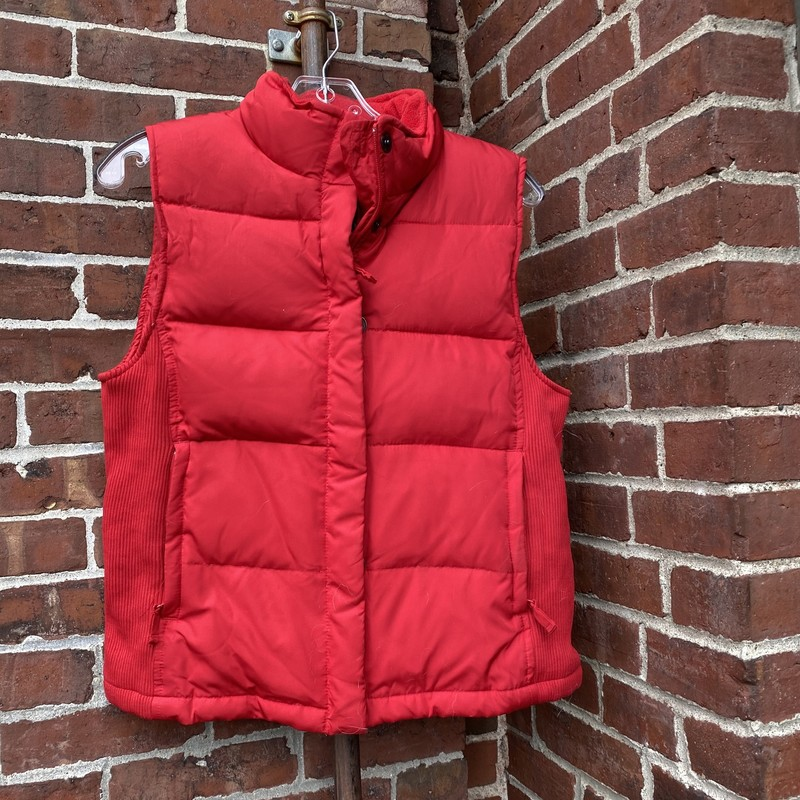 Gap Puffy Vest, Red, Size: Small<br /> Preowned with signs of wear