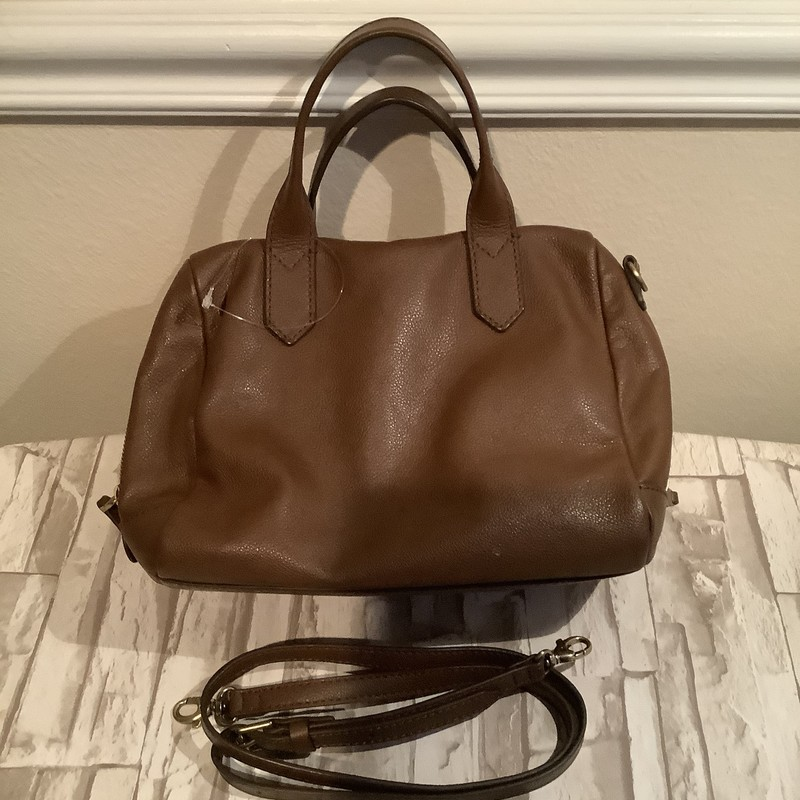 Brown Lthr Satchel.