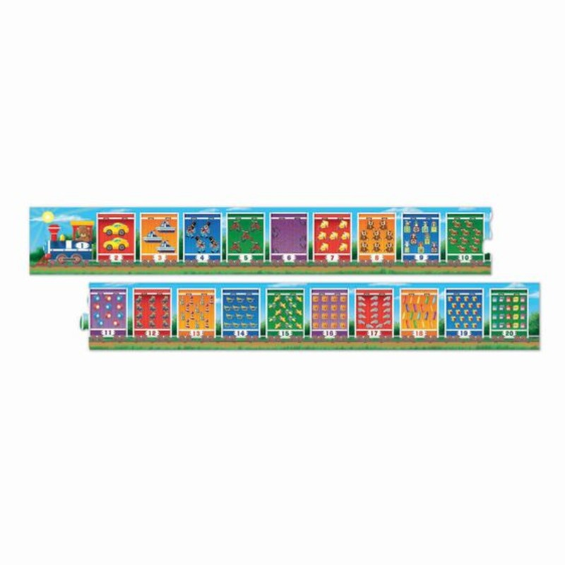 Number Train, Floor Puzzle<br /> Ages 3+<br /> 20 pieces
