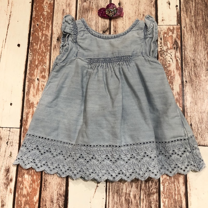 Gap Eyelet 2pc Dress, Blue, Size: 0-3m