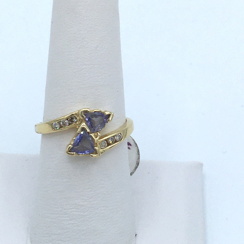 Item#2014436<br /> Saphire and Diamond Ring set in 10 Kt Gold,<br /> Size: 7.5<br /> Price -  189.00