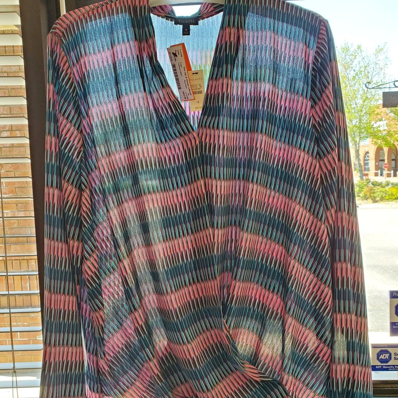 Talbots NWT<br /> Teal and pink<br /> Size 18<br /> Retail $ 89.50
