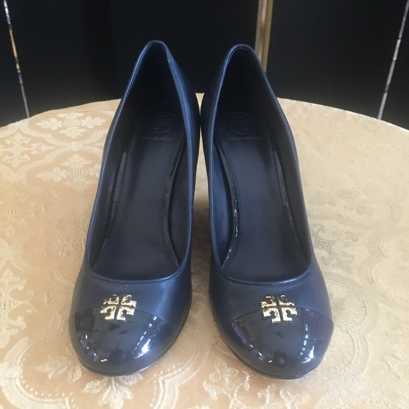 Designer Crested Wedgie Heel Pump, Navy, Size: 9.  Comfy and stylish for the contemporary woman who loves to mix fashion and style and take it to the next level.  Kate never disappoints.