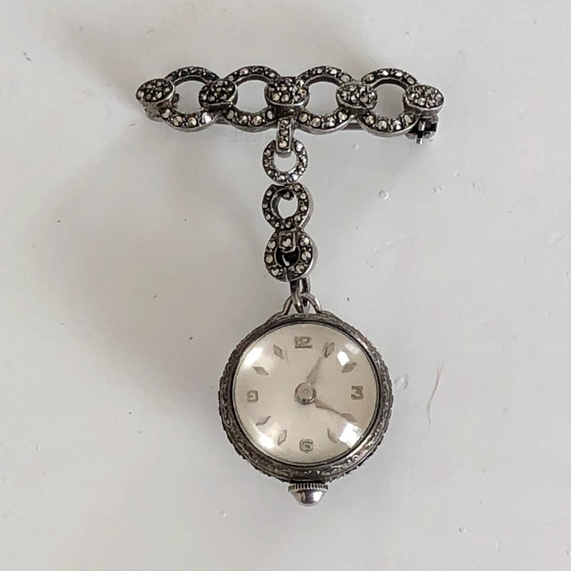Sil/Marcasite Ball Watch.