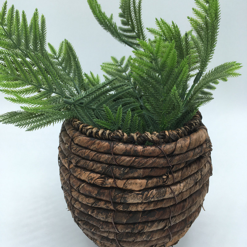 Wicker Basket W/ Greens<br /> Size 6 x 5 round<br /> Price - 16.00