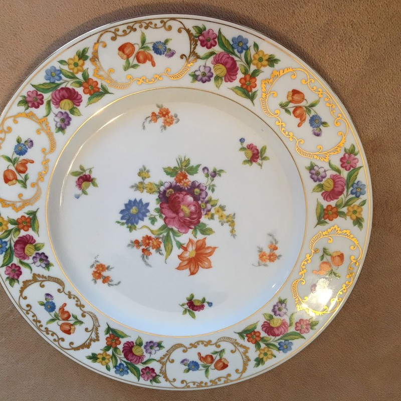 Noritake charger plate. Beautiful condition! Twelve plates available at eight dollars each.