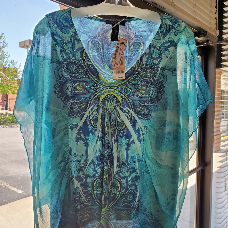 Style & Co NWT<br /> Teal, gold and purple<br /> 2X<br /> Retail$ 52.00