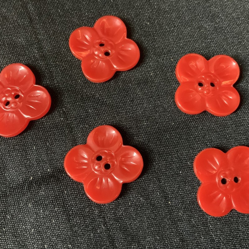 Set Of Red Buttons.