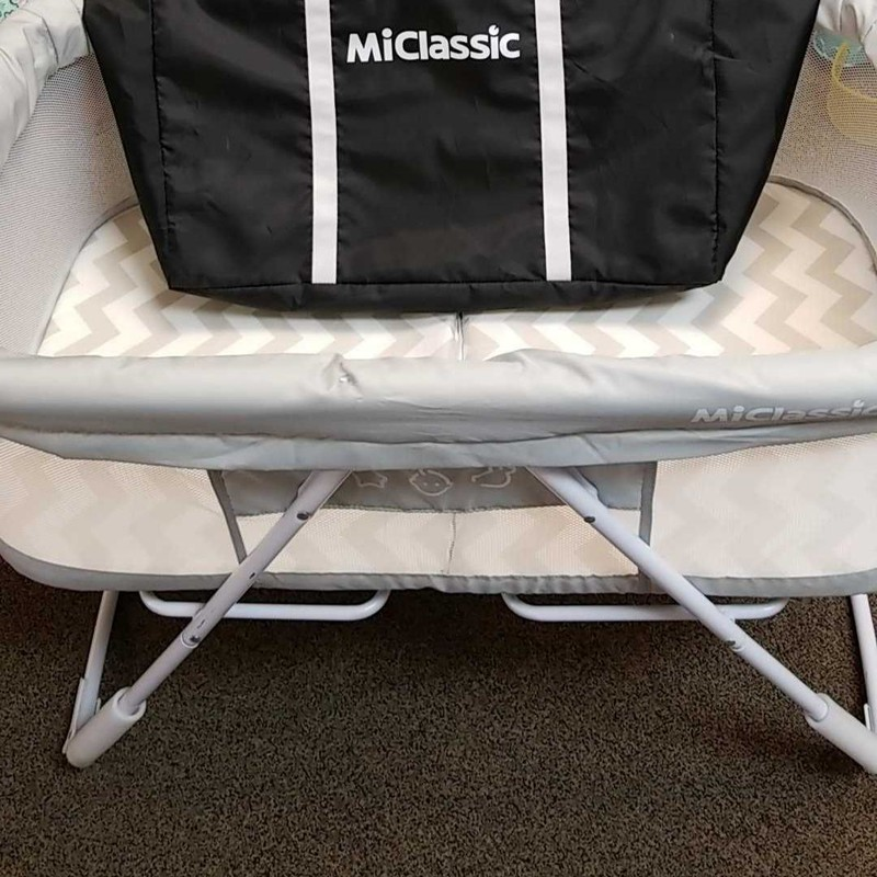 MiClassic Portable Rocking Bassinet<br /> Removable washable sheet covers.<br /> Convenient disassemble with travel bag.<br /> Hand rocking design.<br /> Lightweight, easy to carry.<br /> * STORE PICKUP ONLY, NO SHIPPING.<br /> ** WE OFFER FULL CURBSIDE SERVICE.