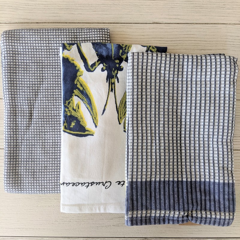 Set of 3 dish towels. 100% cotton.<br /> Featured at Be Kind Creative Designs