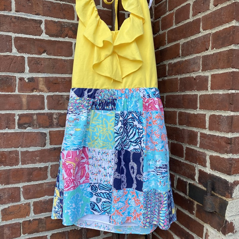 Lilly Pulitzer Cotton Hal, Yellow, Size: Small<br /> Spandex & Coton. Excellent condition