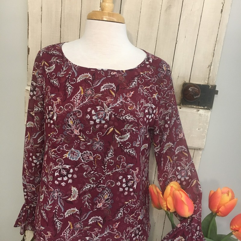 Top WHBM, Paisley, Size: 8