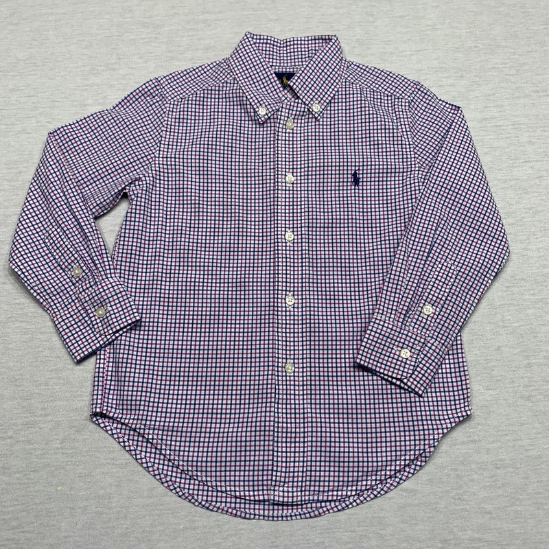 Windowpane plaid poplin shirt