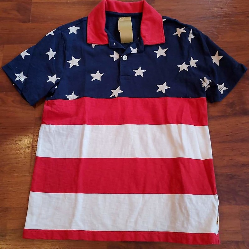 Gap Red/White/Blue Polo, Size: 8