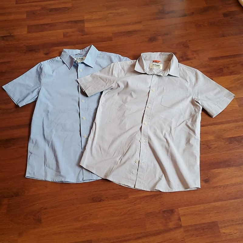 2 Urban Pipeline Shirts, Grey & Light Blue, Size: 18-20