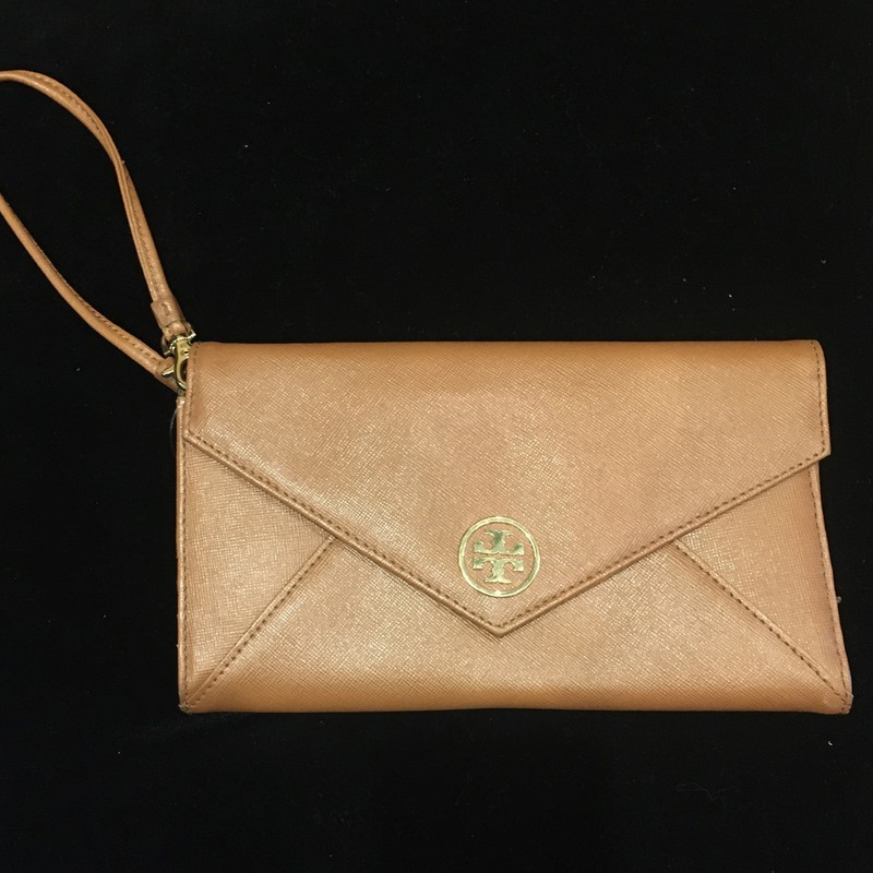 NWT Tory Burch Wallet Wristlet, Saddle, Size: 8Lx5W.  Classic wallet/wristlet in Tory style.  .