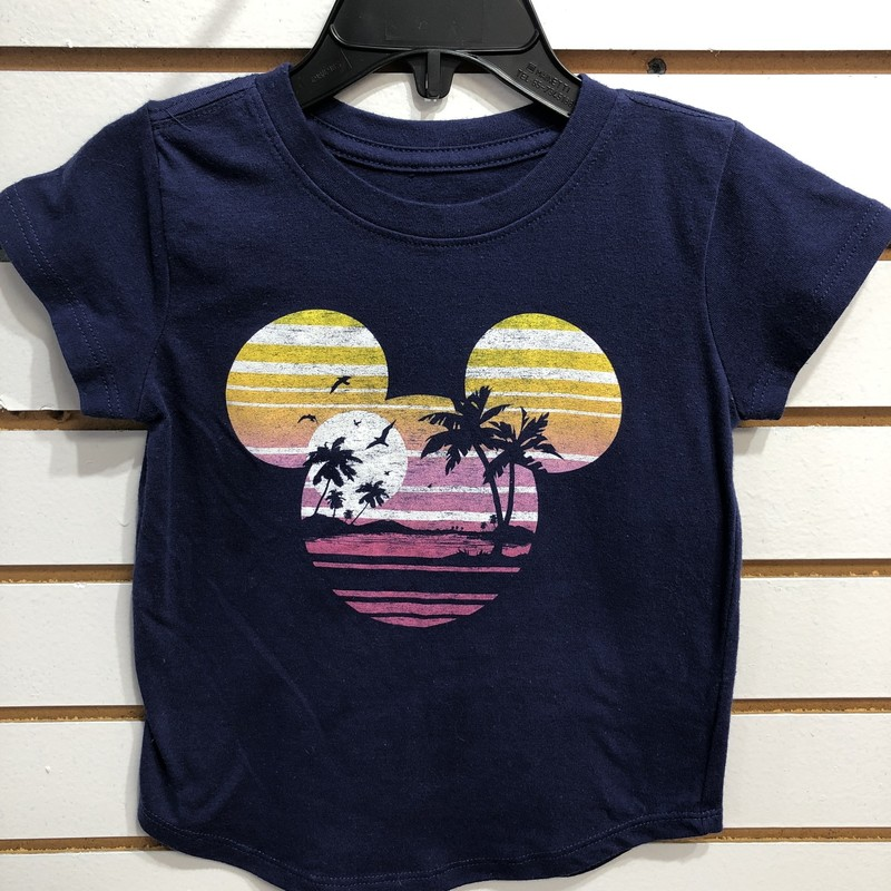 Disney T Shirt, Blue, Size: 4T