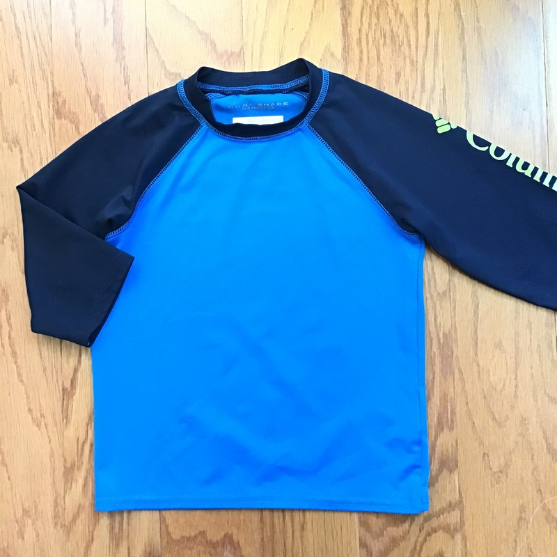 Columbia Rash Guard, Blue, Size: 6-7<br /> <br /> <br /> ALL ONLINE SALES ARE FINAL. NO RETURNS OR EXCHANGES. PLEASE ALLOW 1 TO 2 WEEKS FOR SHIPMENT.