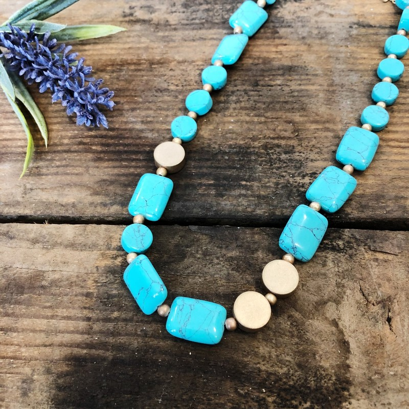 "Turquoise Beads - up to 20"" long"