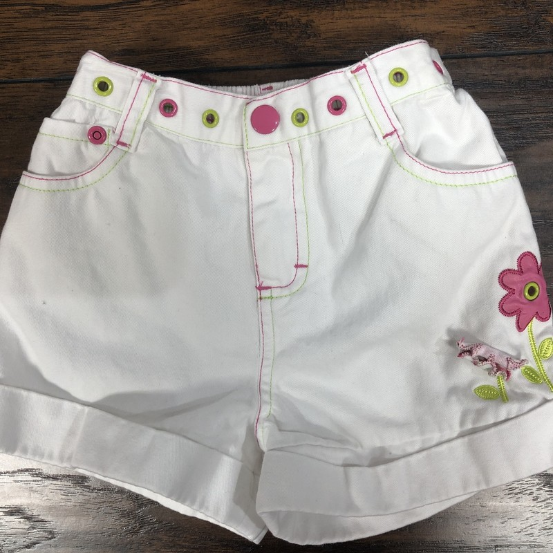 Kids Headquaters, White w/ pink & Green, Size: 4t