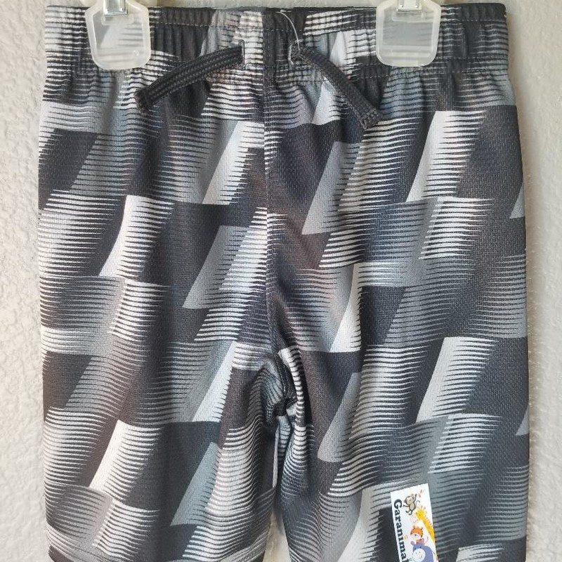 "NEW Athletic Shorts, Size: 4T<br /> Tage says ""All over print mesh short""<br /> Black & gray<br /> Full elastic waist"