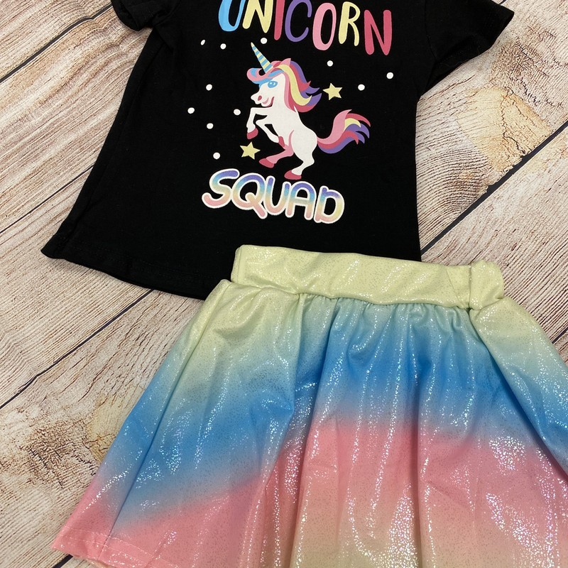 Unicorn Squad 2 Pc NEW, Black, Size: 18 Mos G
