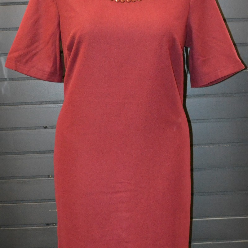 New without tags<br /> Jessica London<br /> Beaded neckline<br /> Wool exterior<br /> Polyester lining<br /> Size 16
