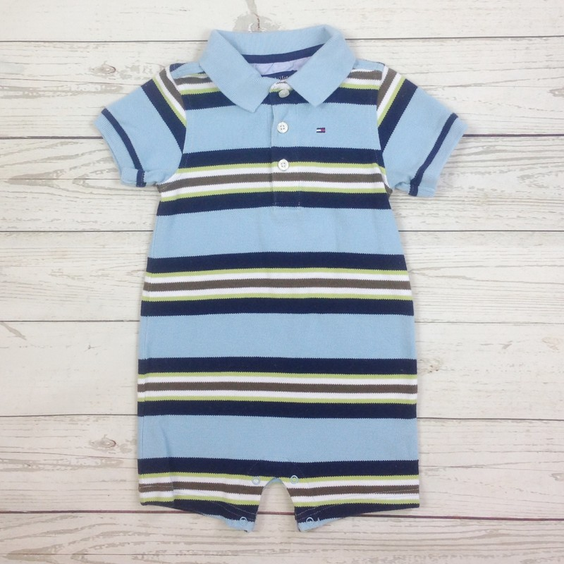 Blue/Navy/Brwn Stripe Pol.
