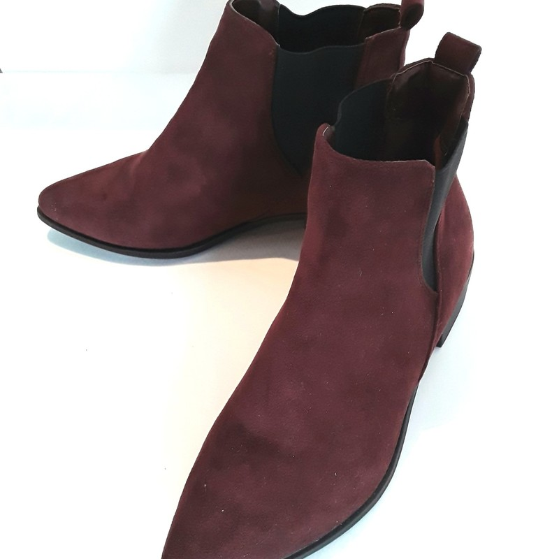 Seven Suede Ankle Boots, Wine, Size: 8 These look like they have never been worn.