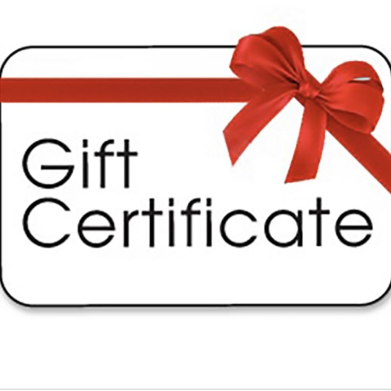 Gift Certificate. Let them choose something wonderful from our online or brick & mortar store!