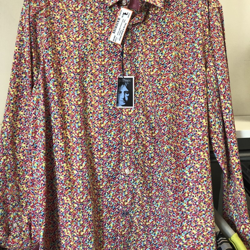 John Lennon NWT Floral Shirt.  LS.  Original Retail $95.  Our price $24.99