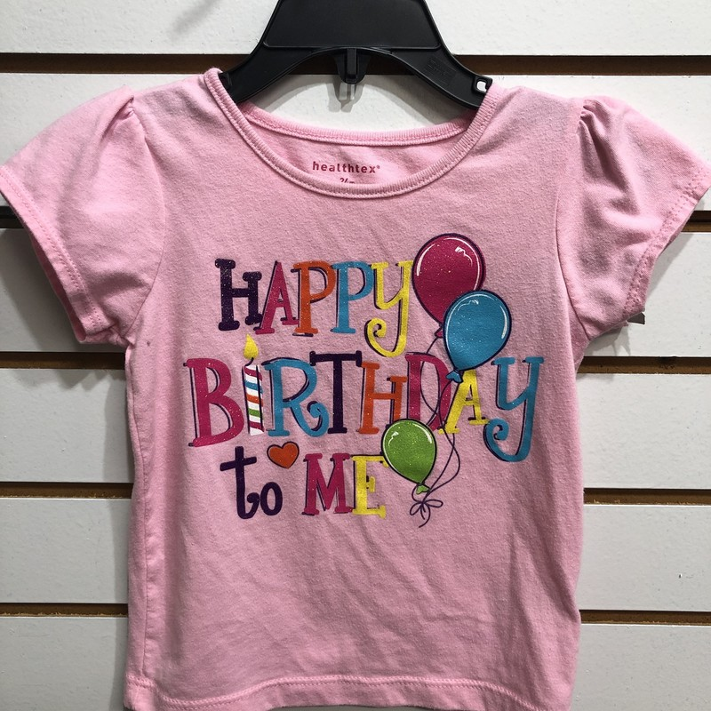 Happy Birthday, Pink, Size: 24M