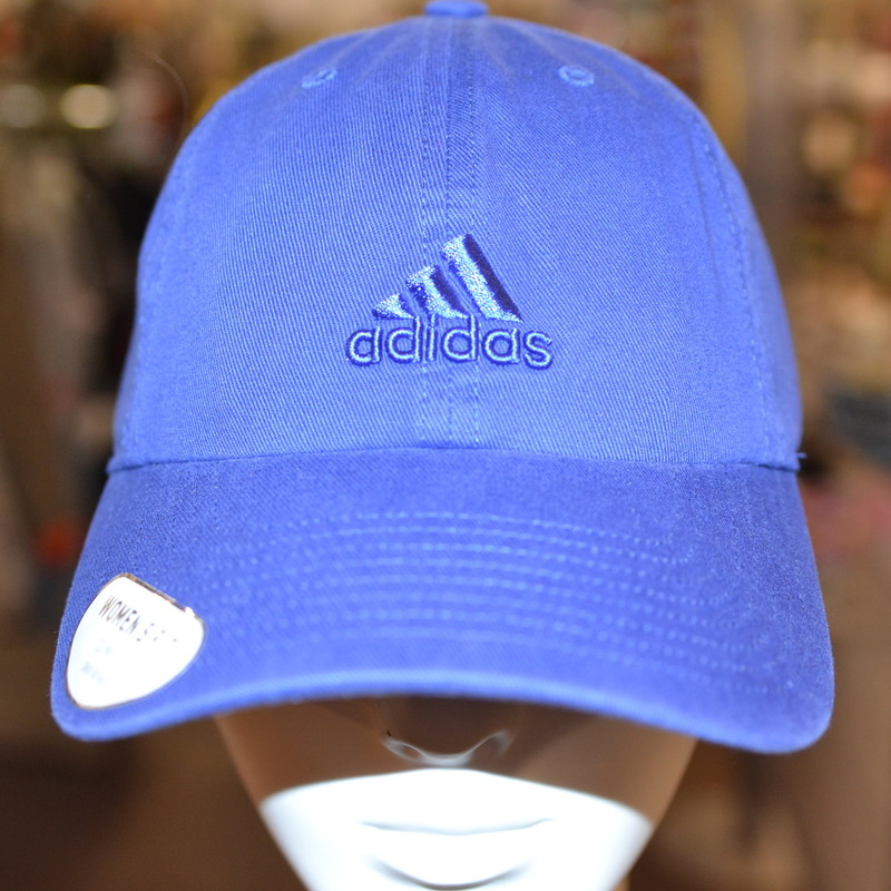 New with tags<br /> Original price: $14.99<br /> Adidas<br /> Blue<br /> Adidas logo embroidered into the front<br /> Adjustable