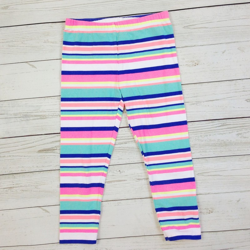 Green Blu Stripe Legging.