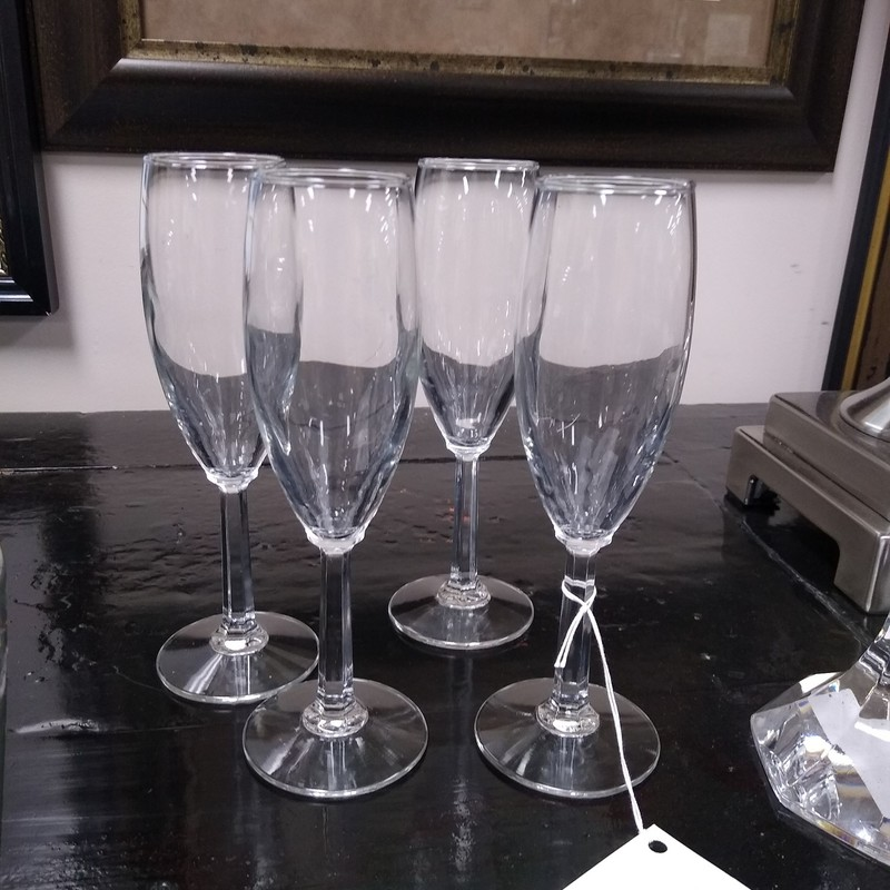 Champagne Flutes, None, Size: Set(4)