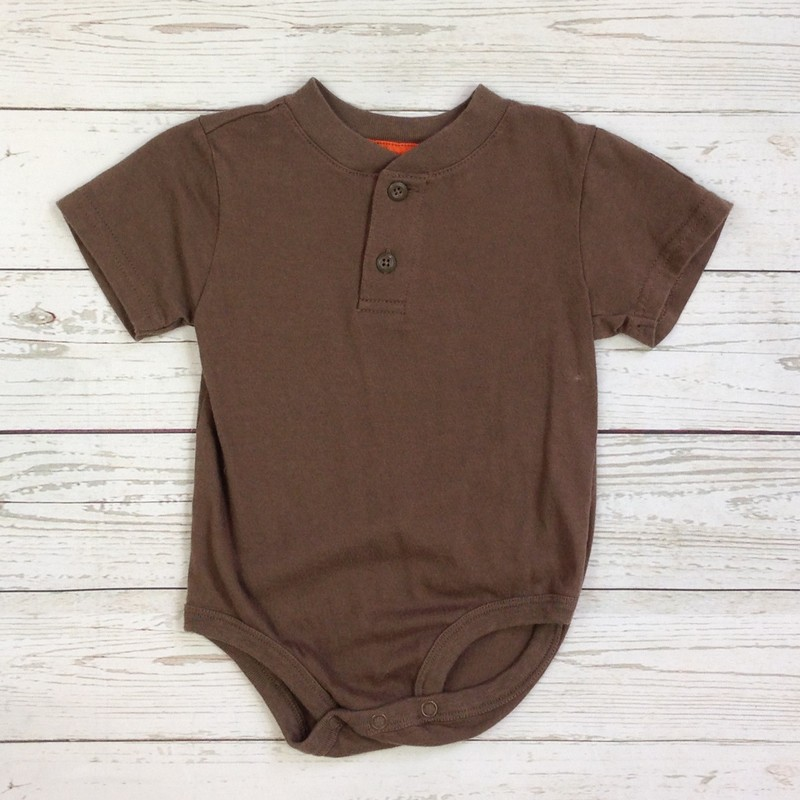 Brown 2 Button S/Slve.