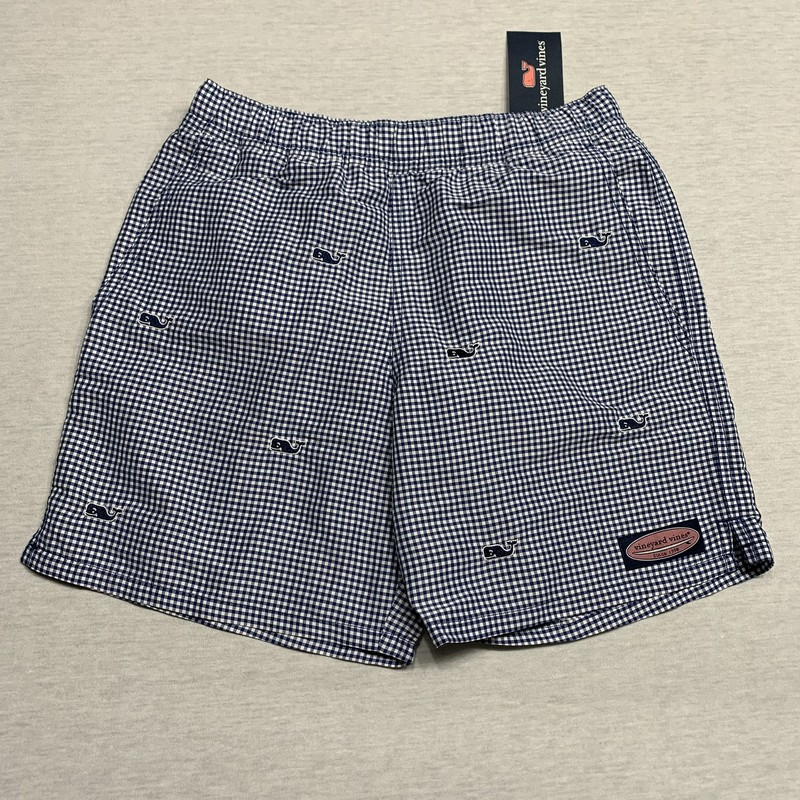 NWT Embroidered swim trunks with pockets & brief lining