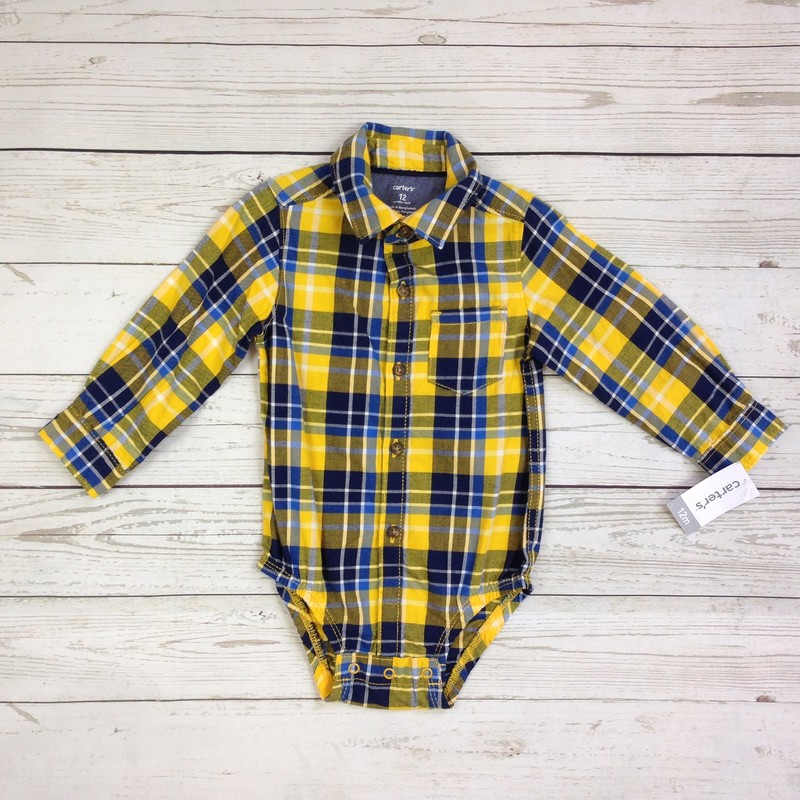 Yellow Navy Plaid NEW.