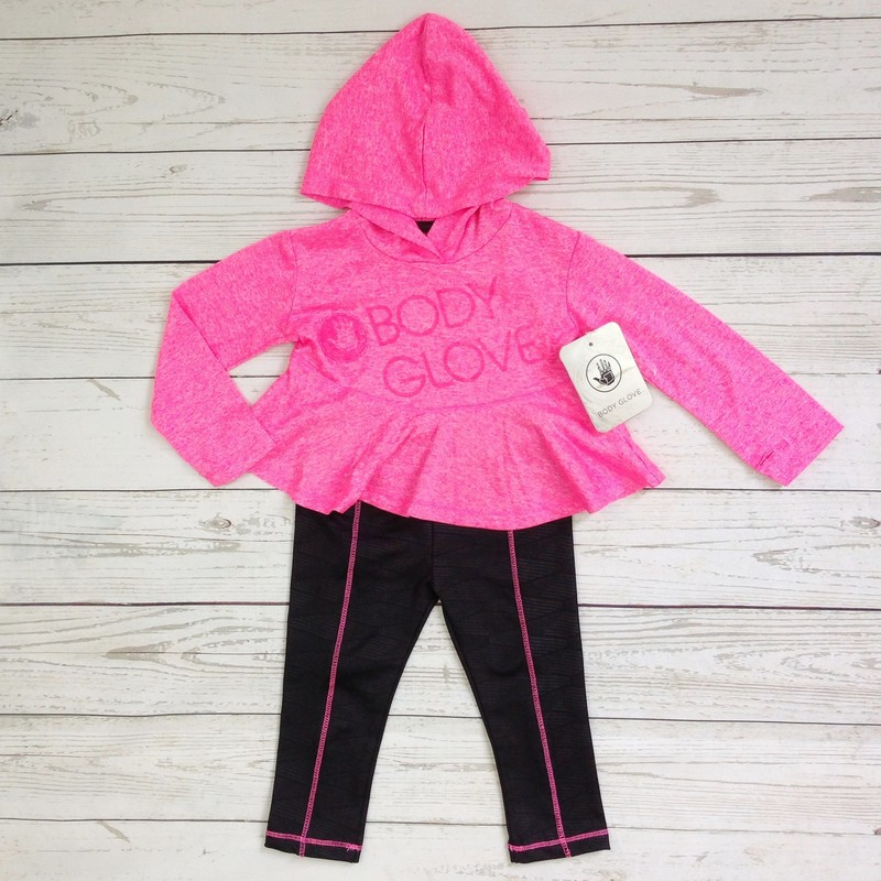 2pc Neon Pink/Black NEW.