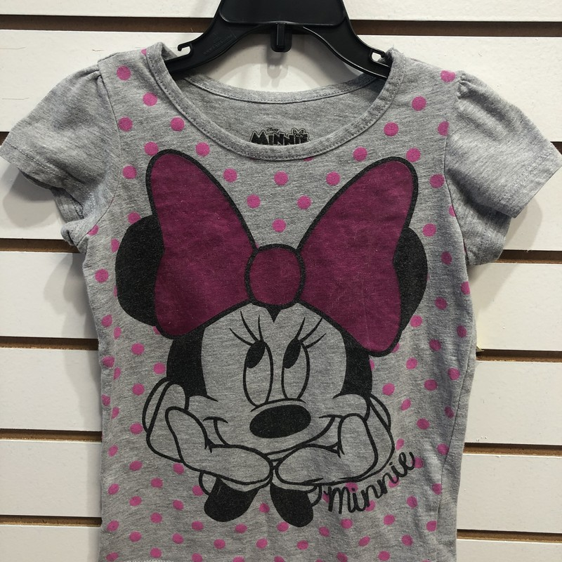 Disney Minnie Mouse, Grey, Size: 5T