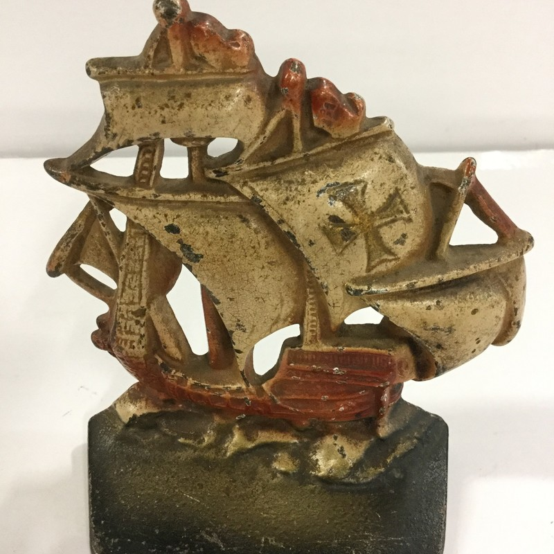 Cast iron ship doorstop. Great condition