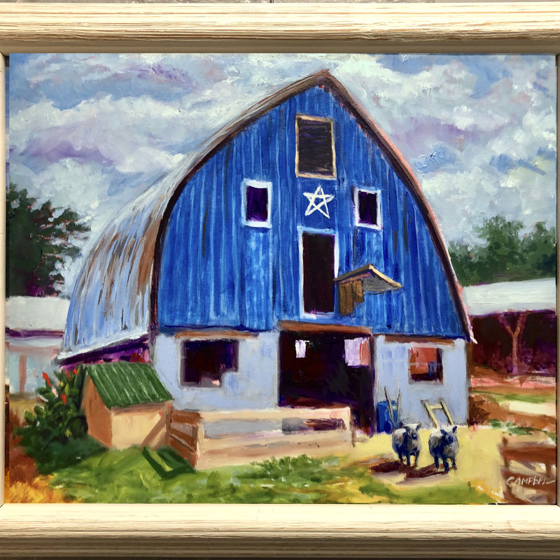 "Title: Sheepish Looks, Artist: William T. Campbell, Medium: Oil, Size: 20""W x 16""T Framed"