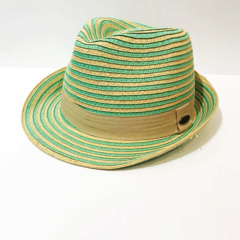 Papillon, Green stripes, Size: Fedora OSFA