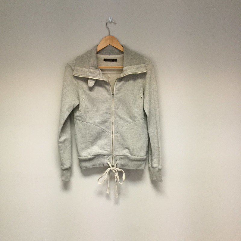 Nicholas K Terry Zip Jacket<br /> Size M<br /> Grey Sparkle<br /> $69.00