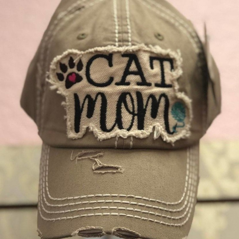 CAT MOM, Beige, Size: Adjusts<br /> This Hat is from our Tara Bella Boutique<br /> BRAND NEW<br /> Show the love for your CAT!<br /> Makes a Wonderful Gift!