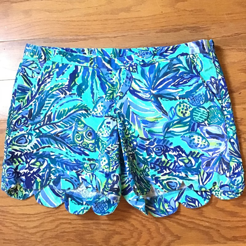 Lilly Pulitzer Short, Blue, Size: 4<br /> <br /> <br /> WOMENS<br /> <br /> ALL ONLINE SALES ARE FINAL<br /> NO RETURNS OR EXCHANGES<br /> PLEASE ALLOW 1 TO 2 WEEKS FOR SHIPMENT
