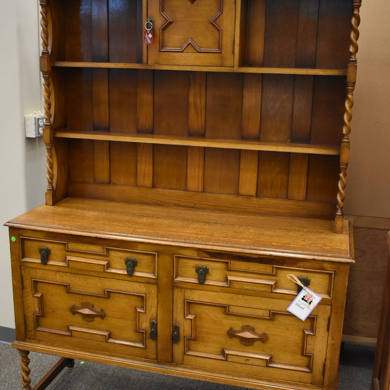 Tiger Oak Hutch