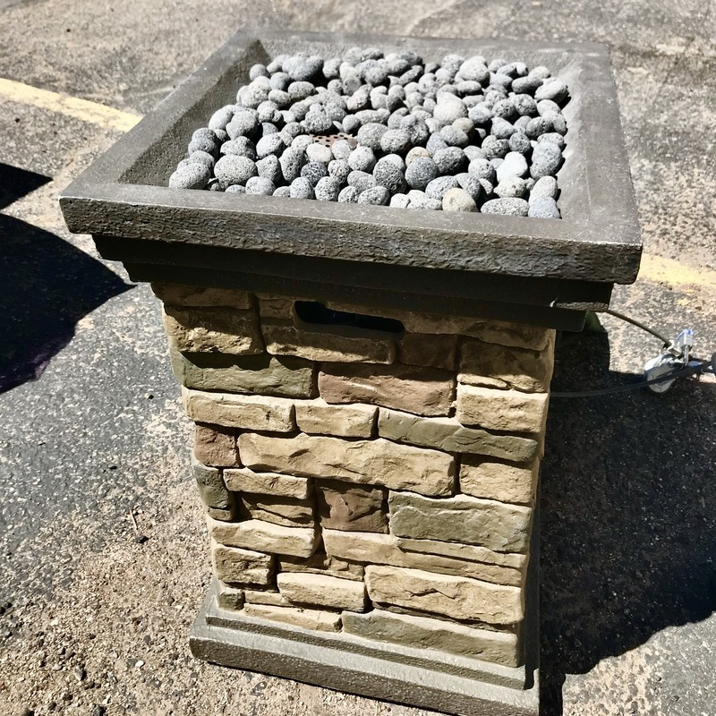 Firepit Outdoor, Brown, Size: 20x20x30