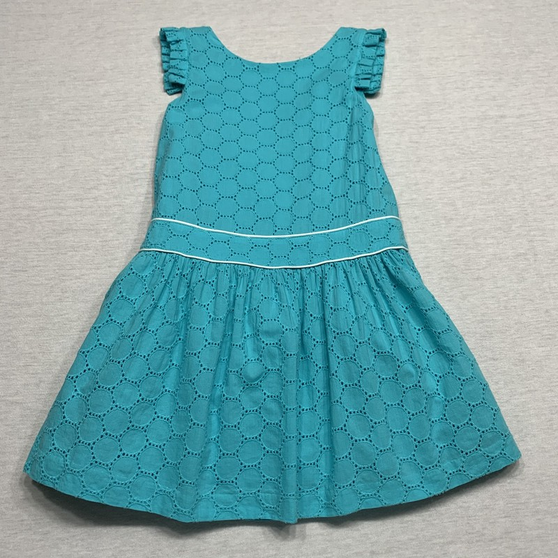 Eyelet dress with wrap style back
