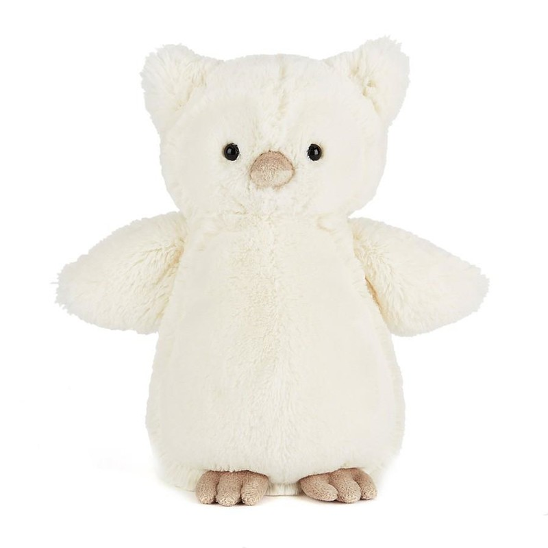 "9""H Medium size of Bashful Owl<br /> <br /> Hand wash only; do not tumble dry, dry clean or iron. Not recommended to clean in a washing machine."